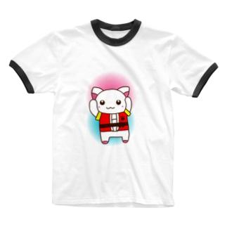 はっぴーにゃ Ringer T-shirts