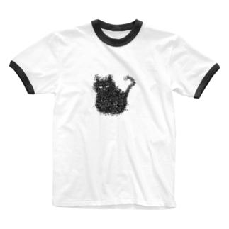 つぶつぶねこちゃん Ringer T-shirts
