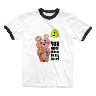 KASIのkumaさんの鍵 Ringer T-shirts