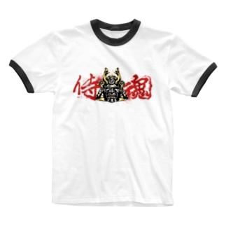 侍魂 Ringer T-shirts