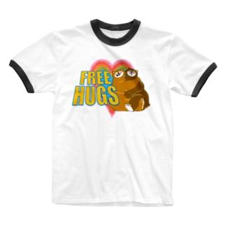 フリーハグ Ringer T-shirts