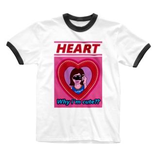 HEART♥HEART♥HEART♥HEART♥  Ringer T-shirts