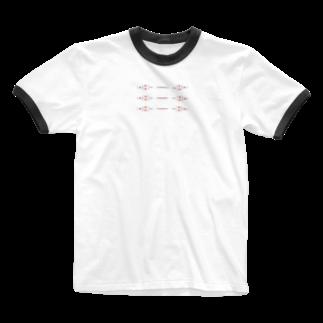 無糖/無味の羽なしチャイナ Ringer T-shirts