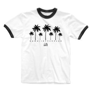 Palm tree Ringer T-shirts