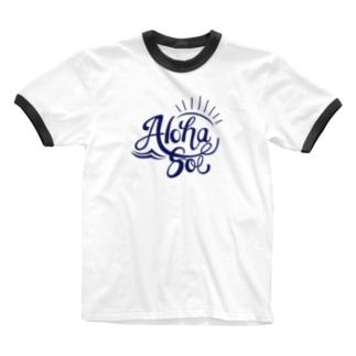 AlohaSol original Logo Ringer T-shirts