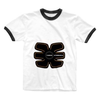 腹筋鍛えマッスル Ringer T-shirts