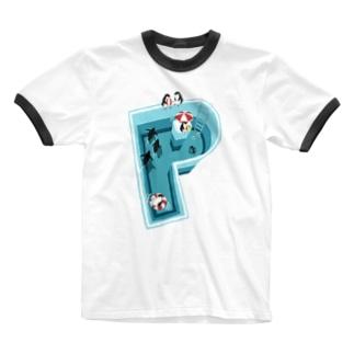 ペンギン・ケサロマ Ringer T-shirts