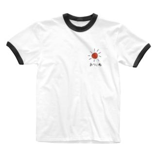 夏はあついね Ringer T-shirts