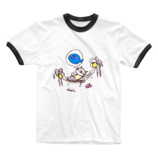 南の島でZZZ Ringer T-shirts