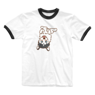 HUS×HUSのヘソウー Ringer T-shirts