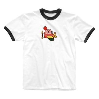 りんごの配達 Ringer T-shirts
