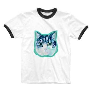 バロン ダイカット Ringer T-shirts
