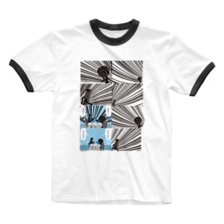 ごはん/チキュウズィン Ringer T-shirts