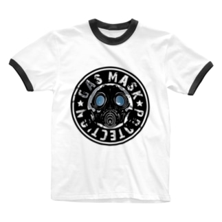 GAS_MASK_PROTECTION Ringer T-shirts