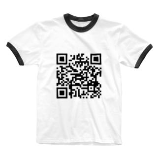 QRコードを着よう(nazoq.com) Ringer T-shirts