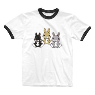 りんちゃん杏くん翼くん Ringer T-shirts