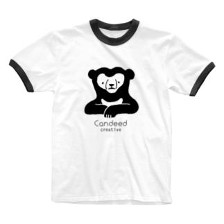 マレーグマ(ロゴあり) Ringer T-shirts