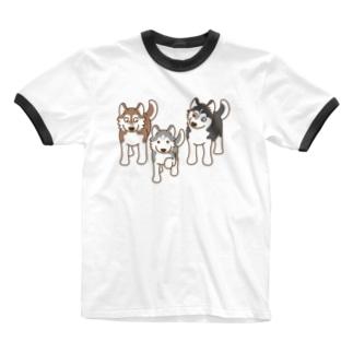 まねっこ銀ちゃん Ringer T-shirts