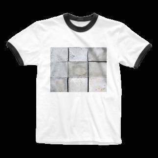 DAIGAKUKUNのコンクリート Ringer T-shirts
