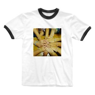 3班集合! Ringer T-shirts