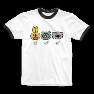 たぬきゅんショップの誰推し?【箱】 Ringer T-shirts