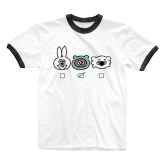 誰推し?【たぬきゅん】 Ringer T-shirts