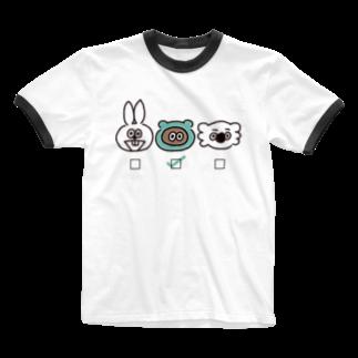 たぬきゅんショップの誰推し?【たぬきゅん】 Ringer T-shirts