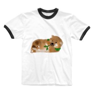 しば(どでか) Ringer T-shirts