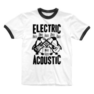 ELECTRIC×ACOUSTIC PENGUIN Ringer T-shirts