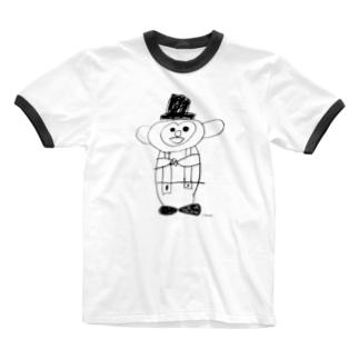 おさるのミント君 Ringer T-shirts
