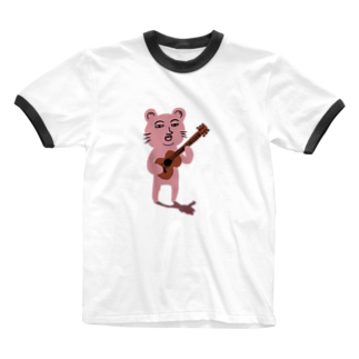 TACAのグッズ売り場のぴん君 Ringer T-shirts