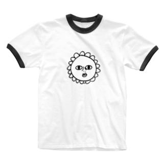ひまわり Ringer T-shirts