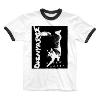 ハードコア猫 Ringer T-shirts