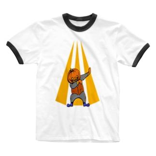 軽くかぼちゃ Ringer T-shirts
