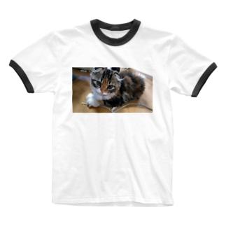バーニーちゃん(リアル天使時代) Ringer T-shirts