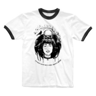 私は半分生きている Ringer T-shirts