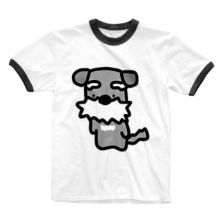 シュナ!はかしこそうな犬! Ringer T-shirts
