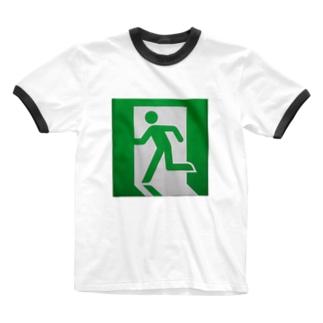 非常口(実写版) Ringer T-shirts