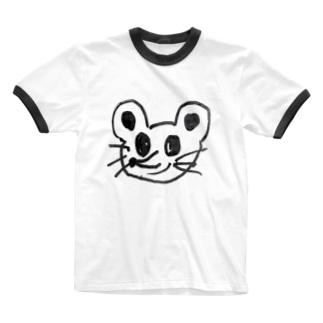 ネズミみたいなやつ Ringer T-shirts