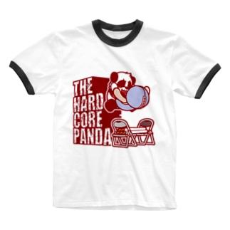 ハードコアパンダ(イス&蛍光灯) Ringer T-shirts