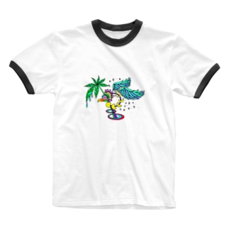 stargazer bird Ringer T-shirts
