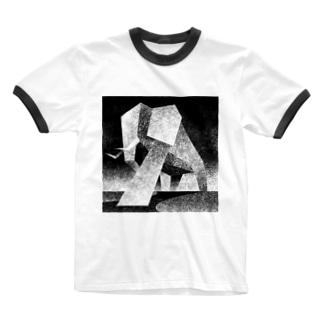 Monochrome elephant Ringer T-shirts