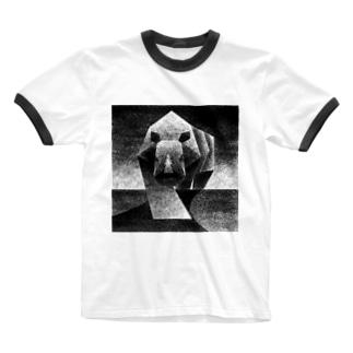Monochrome rhino Ringer T-shirts