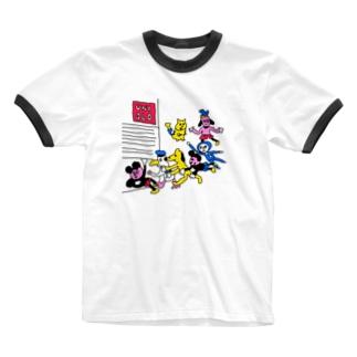 急げ!テンバイヤー Ringer T-shirts