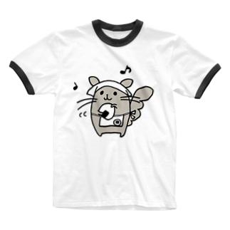 銀シャリおにぎり Ringer T-shirts