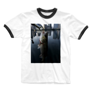 シーバス  くん Ringer T-shirts