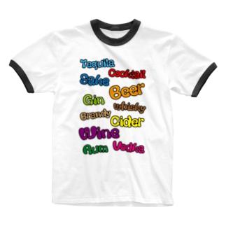 お酒の種類 Ringer T-shirts