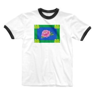 コ八ルのレトロチャイナ Ringer T-shirts