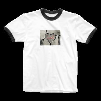 9791のはーとすとーん Ringer T-shirts