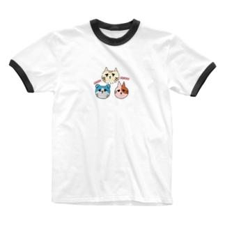 みゅうみゅう猫ちゃん Ringer T-shirts